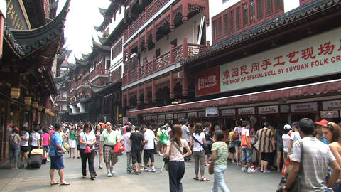 People at the Yuyuan garden Stock Video Footage