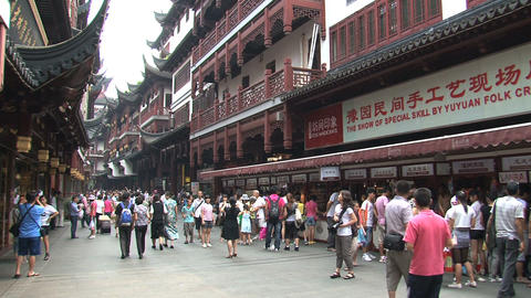 People at the Yuyuan garden Footage