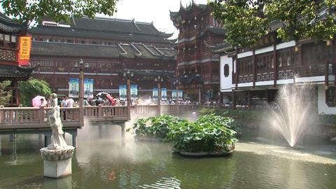 Huxinting tea house garden Stock Video Footage