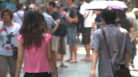 People walking in the Yuyuan garden Stock Video Footage