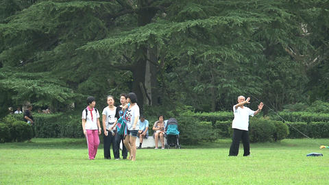Group children walking towards camera Stock Video Footage