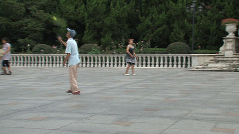 People playing badminton Footage