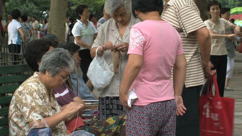 Elderly people chatting Stock Video Footage