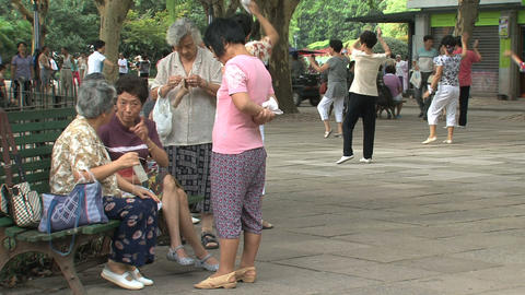 Zhongshan park morning scene Stock Video Footage