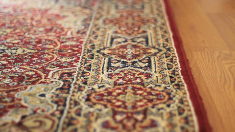 Vacuuming Colorful Carpet Stock Video Footage