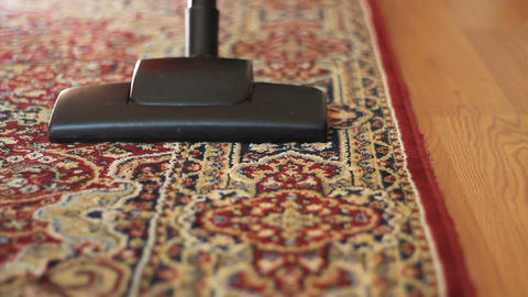 Vacuuming Colorful Carpet Footage