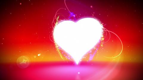 Love heart loop Animation