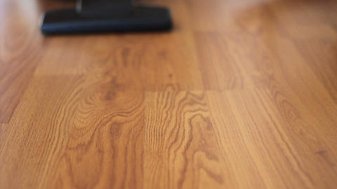 Vacuuming Laminate Flooring Stock Video Footage
