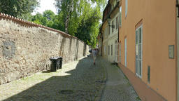 Novy Svet - charming and quiet street in the Castle area in Prague Footage