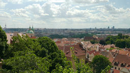 View on the roofs in Prague, Czech Republic Live Action