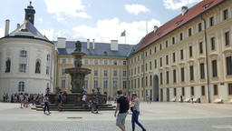 The Prague castle - courtyard Footage