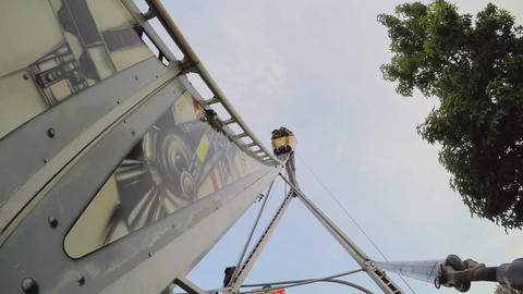 Rollecrcoaster Goes Down At Fair Footage