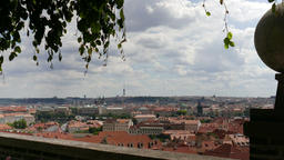 Prague, panorama. View on the roofs in Prague, Czech Republic Live Action