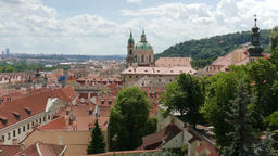 View on the roofs in Prague, Czech Republic Footage