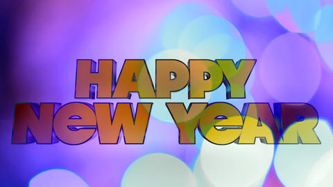 Happy New Year Bokeh Background Motion Background Footage
