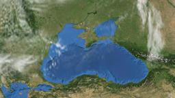 Rotating Earth - Slow passage through the Black Sea region Animation