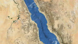 Rotating Earth - Slow passage through Red Sea region Animation