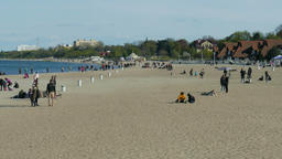 Baltic sea and the beach in Sopot,Poland Footage