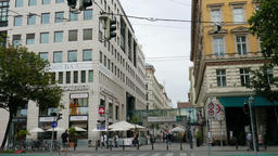 Vienna. Street view. Daily life scene Footage
