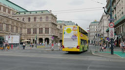 Vienna, Austria. Street view. Daily life scene Footage