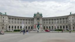 Heldenplatz and Neue Burg Wing of Hofburg Palace in Vienna Footage