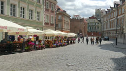Warsaw, Poland. Street at the old town Footage