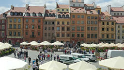 Market Place in the old town. Warsaw, Poland Footage