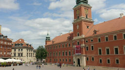 Warsaw, Poland. The Royal Palace and market square in the Old Town Footage