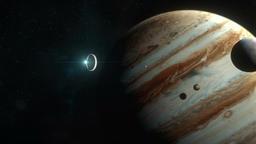 Spaceship Arriving at Jupiter Animation