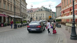 Warsaw, Poland - city life. Old Town Live Action