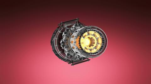 loop rotate jet engine turbine of plane, aircraft concept Footage