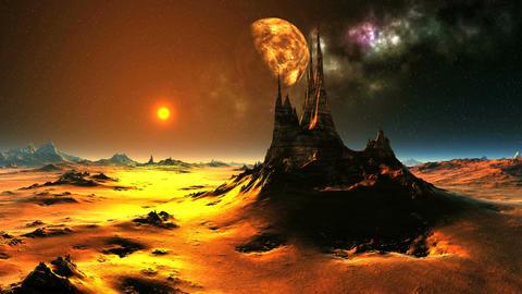 Fairytale Sunrise On An Alien Planet Animation