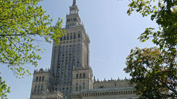 Warsaw, Poland. Palace of Culture and Science. Static shot Live Action