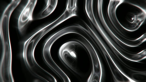 Black oil fluid abstract motion background seamless loop Animation