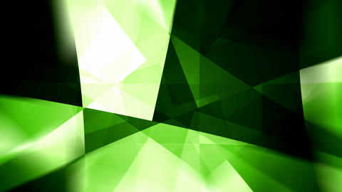 Rotating glowing green triangles abstract motion background seamless loop Animation