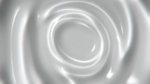 Slowly swirling white liquid abstract motion background seamless loop Animation