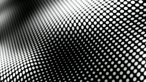 Waving halftone dots pattern abstract motion background seamless loop Animation
