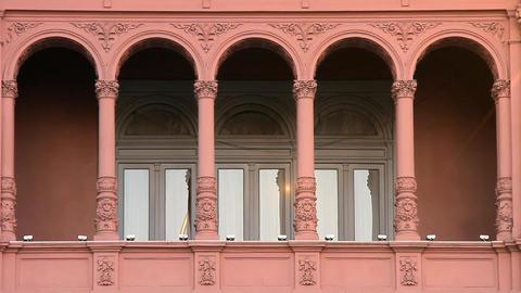 Balcony Of The Casa Rosada In Buenos Aires Footage