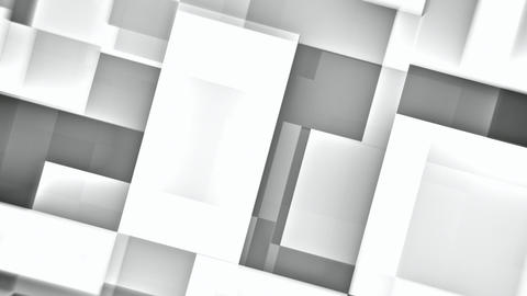 Moving white squares abstract motion background seamless loop Animation