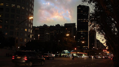 Buenos Aires At Night Footage