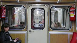 Journey In the Warsaw subway Footage