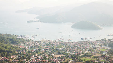 4k Gocek Bay Time Lapse Animation