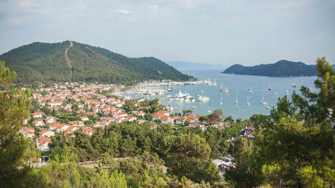 4k Gocek Harbor Time Lapse Stock Video Footage