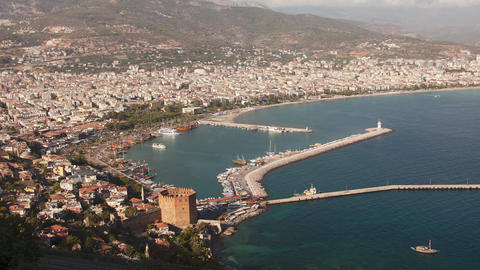 4k Time Lapse Alanya Animation