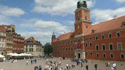 Warsaw, Poland. Market square and the Royal Castle - old town Footage