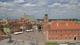 Warsaw, Poland. Royal Castle and the market square Footage