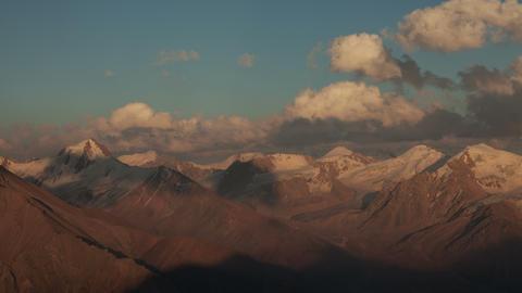 Sunset Mountains Time Lapse 4k Animation