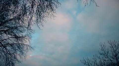 Time lapse. Beautiful white clouds floating in the blue sky Footage