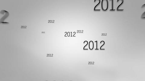 New Year 2017 grey background Animation