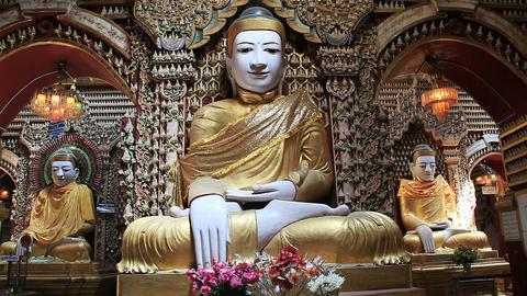 Buddha Statues Thandboddhay Paya Temple Footage